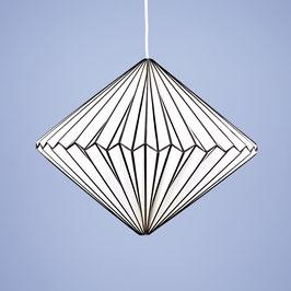 """Origamilampe """"Diamant"""" Schwarz-Weiß"""