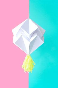 Origami Piñata weiß