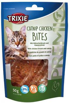 TRIXIE PREMIO Catnip Chicken Bites, Glutenfrei, 50g (100g / 2,78€)