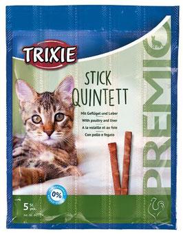 TRIXIE PREMIO Stick Quintett, Geflügel / Leber, 5 x 5g (100g / 4,36€)