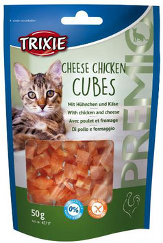 TRIXIE PREMIO Cheese Chicken Cubes, Glutenfrei, 50g (100g / 2,98€)