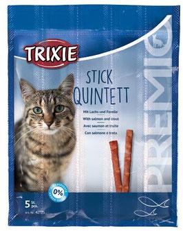 TRIXIE PREMIO Stick Quintett, Lachs / Forelle, 5 x 5g (100g / 4,36€)