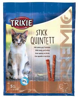 TRIXIE PREMIO Stick Quintett, Lamm / Truthahn, 5 x 5g (100g / 4,36€)