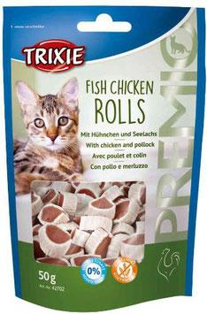 TRIXIE PREMIO Fish Chicken Rolls, Glutenfrei, 50g (100g / 2,98€)