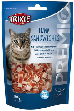TRIXIE PREMIO Tuna Sandwiches, 50g (100g / 3,38€)