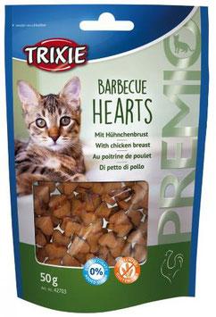 TRIXIE PREMIO Barbecue Hearts, Glutenfrei, 50g (100g / 2,78€)