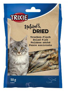 TRIXIE Natural & Dried - Trockenfisch, Anschovis, 50g (100g / 3,98€)