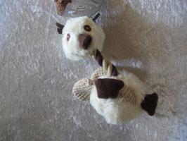 Ente mit Quietscher, ca. 16 x 7,5 cm, Baumwolle und Plüsch