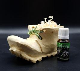 Holzschuh Zirbe mit 5 ml reinem Zirbenöl
