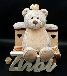 """Kuscheltier SET """"Teddybär ZIRBI"""" 40cm - mit Zirbenholzspäne gefüllt!"""