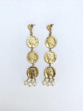 Boucles d'oreilles Antique et perles