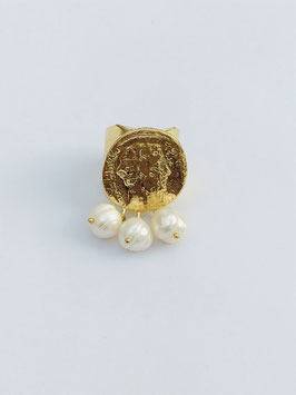 Bague façon Antique avec perles