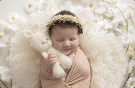 Haarkränzchen in creme-natur, für Newborn
