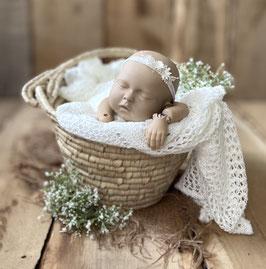 Haarbändchen creme-weiß, für Newborn