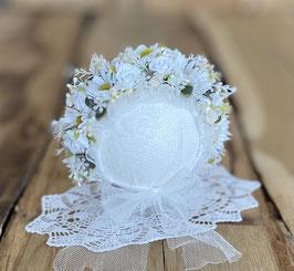 Flowerbonnet mit Margheritten, Newborn