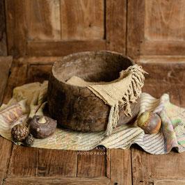 Früchte aus Keramik, antik, Set 3 Stk.