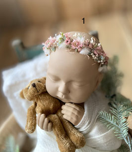 Haarkränzchen für Newborns füllig in Farben