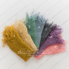 Jutedeckchen in Pastellfarben