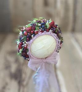 Nr.: 11 Flowerbonnet Beerenbonnet mit rosa,für Sitter