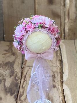 Nr.: 2 Flowerbonnet zartrosa, für Sitter