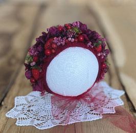 Flowerbonnet für Newbornbabys mit Beeren