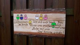 Personalisiertes Holzschild , Familienschild