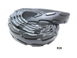 Gürtel-Riemen aus gefahrenem Fahrradreifen 2,4 cm breit.