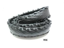 Gürtelriemen aus gefahrenem Fahrradreifen 3,7 cm breit.
