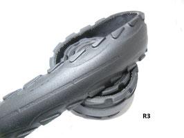 Gürtelriemen aus gefahrenem Fahrradreifen 4,3 cm breit.