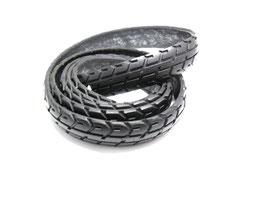 Gürtel-Riemen aus gefahrenem Fahrradreifen 2,5 cm breit.
