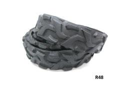 Gürtelriemen aus gefahrenem Fahrradreifen 2,8 cm breit.
