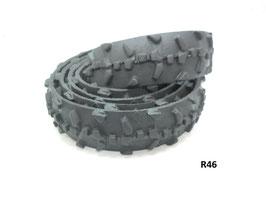 Gürtelriemen aus gefahrenem Fahrradreifen 3,0 cm breit.
