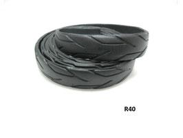 Gürtel-Riemen aus gefahrenem Fahrradreifen 2,2 cm breit.