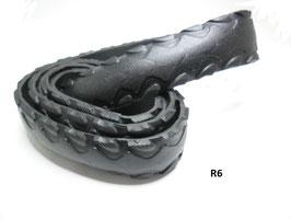 Gürtelriemen aus gefahrenem Fahrradreifen 3,8 cm breit.