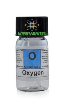 Oxygen gas ampoule standard pressure 99.9%