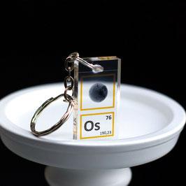 Osmium metal powder keychain