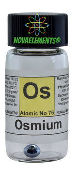 Osmium metal pellet 99.99% various weights