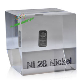 Nickel metal ingot acrylic cube