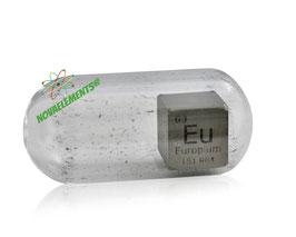 Europium metal density cube 10mm 99.9% argon
