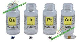 Noble Metals Set: Osmium, Iridium, Platinum, Gold 99.99%