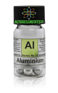 Aluminum metal shiny big spheres 99.99%