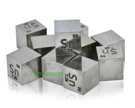 Tin metal density cube 99.99%