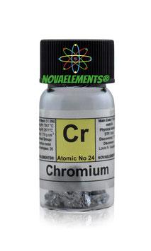 Chromium metal shiny pieces 5 grams 99.8% pure