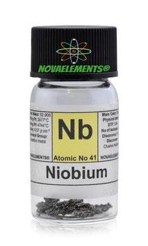 Niobium metal small crystals 1 gram 99.99% pure