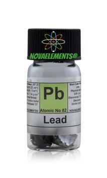 Lead metal shiny chunks 10 grams 99.98%