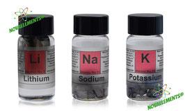Lithium, Sodium, Potassium Metals Set