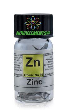 Zinc metal turnings 1 gram 99.9%
