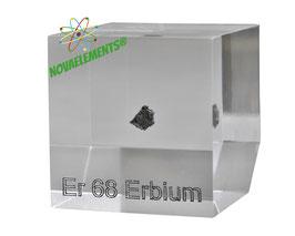 Erbium metal 99.95% acrylic cube