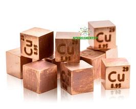 Copper metal density cube 99.99%
