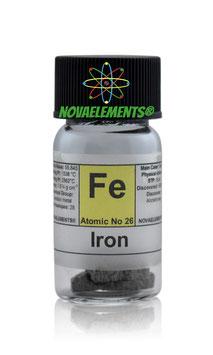 Iron metal shiny electrolytic chips 5 grams 99.99%